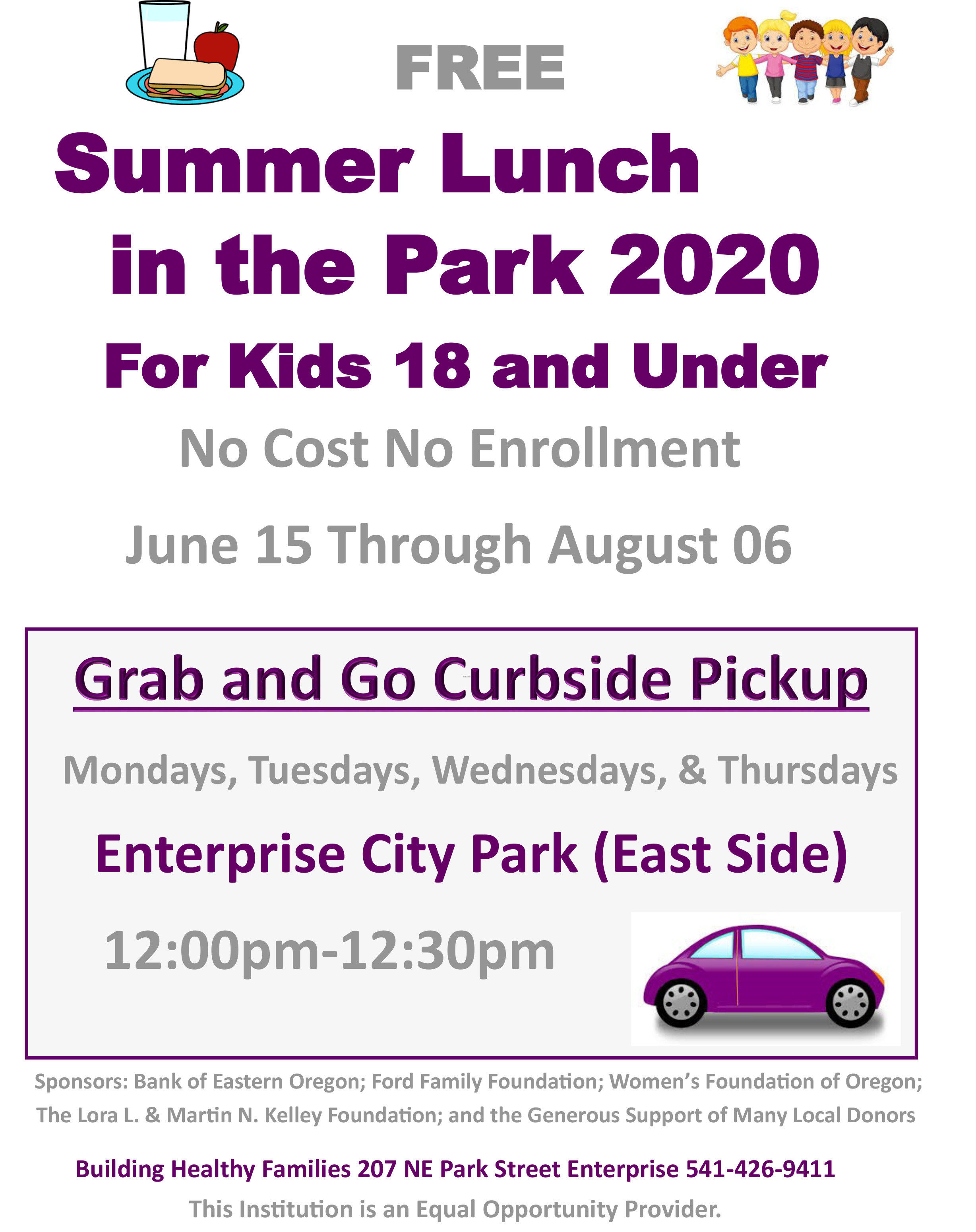 Summer Lunch Flier 2020 Enterprise